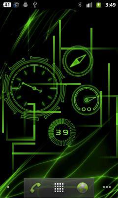 живые обои часы для android