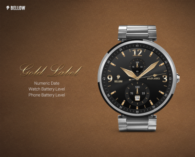 Gold Label watchface by Bellow